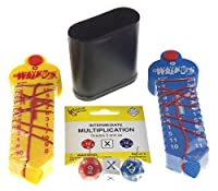 Hickoryville Multiplication & Division Education Bundle - Learning Wrap-Ups Multiply & Divide + Intermediate Multiplication Dice + Dice Cup [並行輸入品]