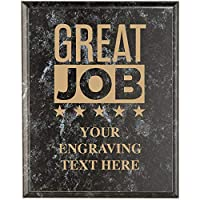 会社の感謝の飾り板 - 8 x 10 ブラック 大理石の認識 トロフィー 額 賞 プライム
