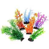 Saim Artificial Aquarium Plants Plastic D?cor Fish Tank Ornament Decorations Assorted Color 6 Pcs