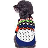Blueberry Pet(ブルーベリーペット) 犬服 セーター アーガイル模様 マルチカラー バック長さ25cm