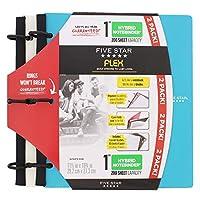 Five Star FlexハイブリッドNoteBinder–1インチ容量、11.5X 11インチ、ノートブックおよびバインダーAll - in - One–2パック–ホワイト/ティール