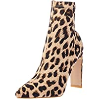 BILLINI Women's Eleni High Heel Boot, Light Leopard, 7 AU
