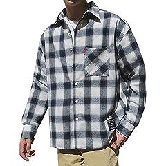 シャツ メンズ 長袖 チェックシャツ ギンガムチェック 大きい カジュアル 秋 オシャレ ビジネス ワイシャツGlestore(グラストア)