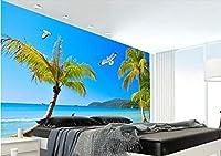 Ansyny カスタム写真壁紙3D立体海辺の風景壁画非編まれた壁の装飾-280X180CM