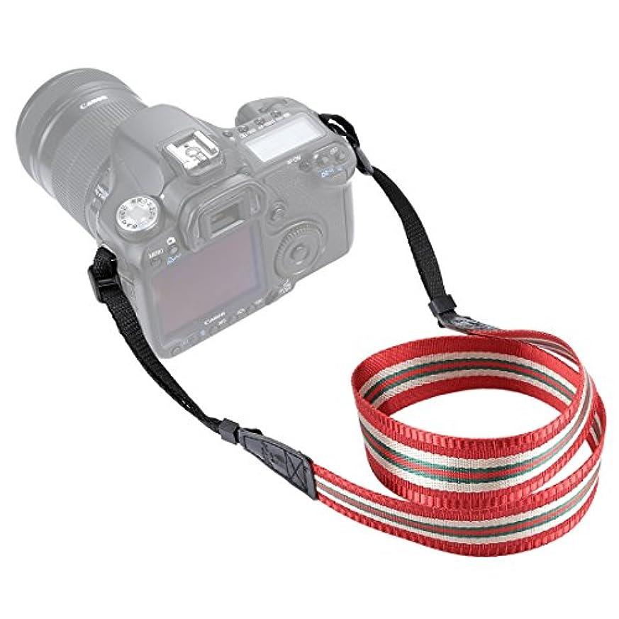 鬼ごっこ先見の明活力Anstorematealliance Bag,case&Straps GuoBomate勝利バッグ、ケース、ストラップPULUZ Stripe Styleシリーズショルダーネックストラップ一眼レフ/デジタル一眼レフカメラ用ストラップ(ダークレッド) (Color : Dark Red)
