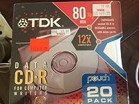 TDK認定Plus CDr 700MB 80分Recorderディスクとポーチ