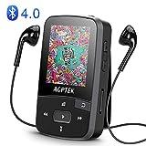 AGPTEK Bluetooth4.0搭載 クリップ MP3プレーヤー ロスレス音質 ミュージックプレーヤー マイクロSDカード最大128GBに対応 A50 ブラック