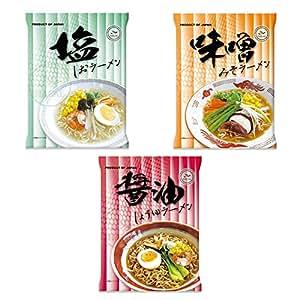 国産 ハラールノンフライ麺インスタントラーメン 3種90食