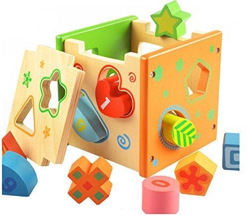 Itian 立体パズル 木製 木のおもちゃ 知育玩具 幾何認知...