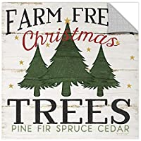 Jennifer Pugh ''Farm Fresh Christmas Trees'' Gallery Wrapped Canvas, 36X36 [並行輸入品]