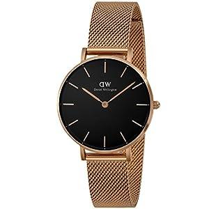 [ダニエル・ウェリントン]Daniel Wellington 腕時計 Classic Petite ブラック文字盤 DW00100161 レディース 【並行輸入品】