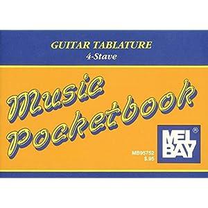 Guitar Tablature Pocketbook: 4-stave