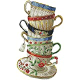 Prettyia Coffee Cup Stamped Counted Cross Stitch Kits for Students Learn to Embroidery - 28 × 42cm 14CT