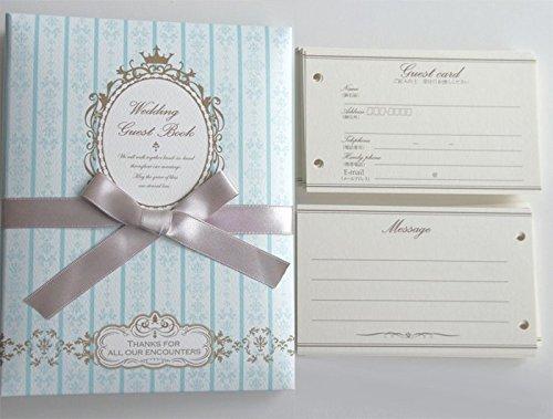 """[해외]카드 식 방명록 `페어리 섬싱 블루 """"신부 용 (카드 100 매들이) 결혼식 접수 설명서 포함/Card type guestbook """"Fairy Something Blue"""" for bridal (100 cards included) Wedding reception manual attached"""