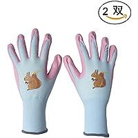 ガーデニング手袋 ニトリル手袋 園芸作業用手袋 2双入 (M)