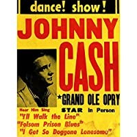 MUSIC CONCERT ADVERT JOHNNY CASH GRAND OLE OPRY FINE ART PRINT POSTER 30X40 CM 12X16 IN 音楽コンサート広告グランドアートプリントポスター