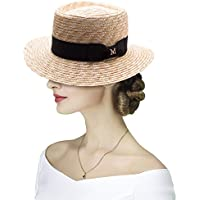 Lawliet Womens Pork Pie Maize Straw Fedora Boater Sun Beach Derby Hat A493