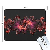 Anmumi マウスパッド 滑り止め 花柄 黒 19×25×0.5cm ゲームに適用 かわいい オシャレ レディース メンズ 子供 ゴム 実用性 パソコン対応