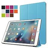 iPad Air2 (9.7インチ)専用ケース 三つ折りケース薄型 オートスリープ機能 スタンド機能(ライトブルー)