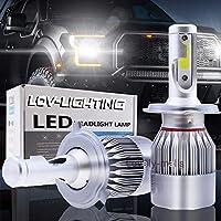 FidgetGear トヨタYaris 2006-2018こんにちは低いビームヘッドランプのための2x H4 9003 HB2 LEDのヘッドライトのキット