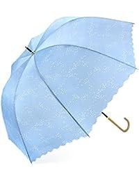 傘 レディース 長傘 かわいい傘 Bibury 新強化グラスファイバー傘骨 梅雨対策 レディース用傘 撥水加工 (ライトブルー)