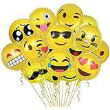 絵文字風船 黄色 emojiバルーン 男の子 女の子 誕生日 夏祭り 結婚式 パーティー 面白い 可愛い 45cm 34個 空気入れ