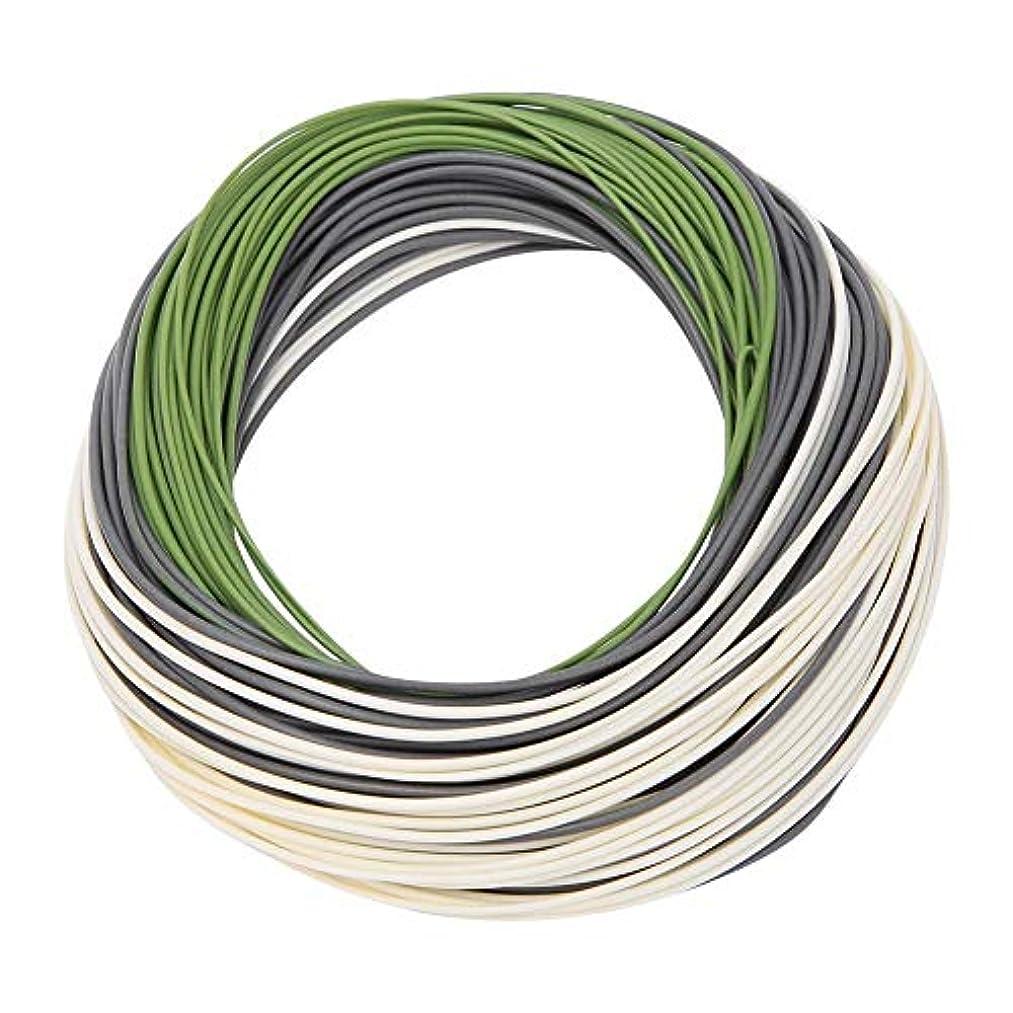うめき声腐った司法Dagtear 3色グラスグリーン/グレーパープル/アイボリーPVCナイロン重量フォワード?フローティングフライフィッシングメインライン(DT5F)