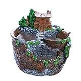クリエイティブ樹脂FlowerDesktopジューシーな植物盆栽ホルダープランターフラワーホームデコレーション飾りのミニチュア風景:07