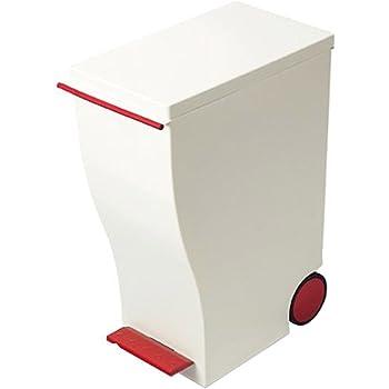 I'mD (アイムディ) ゴミ箱 キャスター付 Kcud クード スリムペダル レッド 33L KUD30HR
