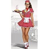 【即納】Dreamgirl Diner Doll Waitress Costume ハロウィンコスチューム メイド・ウェイトレス [サイズ:M]