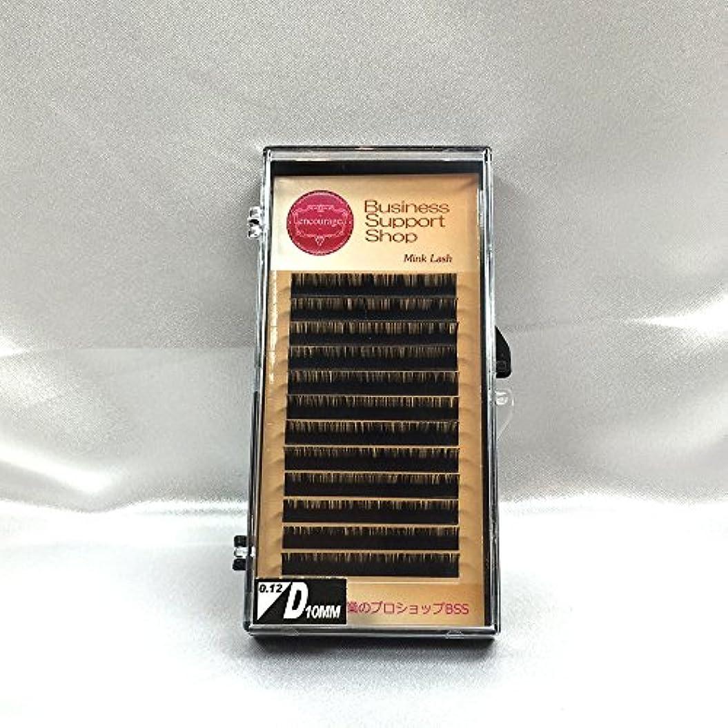 ドナー確かめるカウンターパートまつげエクステ Dカール(太さ長さ指定) 高級ミンクまつげ 12列シートタイプ ケース入り (太0.12 長10mm)