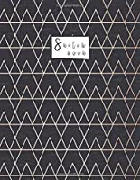 """Sketchbook: Black Marble Triangle Sketchbook : 110 Pages of 8.5""""x 11"""" Blank Paper for Drawing, Doodling or Sketching (Sketchbooks For Girls) (Black Marble Triangle cover)"""