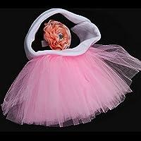 Dagly(TM)0-2yearためホット販売よちよち歩くシフォンボールガウン姫赤ちゃんかわいいスカートの写真の小道具+ヘアアクセサリーキッズソリッド服装