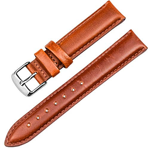 CHARME】トンチャーメー 腕時計用ベルト本革 時計バンド 代用ベルト DWシリーズ対応 汎用 復古 ブラック・レッドブラウン・ダークブラウン13mm/17mm/18mm/19mm/20mm (13mm, レッドブラウン)