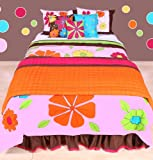 Best Bacati布団セット - Valley of Flowers Pink multicolor Full/Queen Comforter set Review