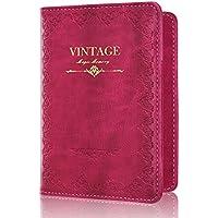 Passport Holder, ACdream Protective Premium Leather RFID Blocking Wallet Cover for Passport,