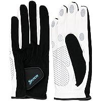 SRIXO|#SRIXON(スリクソン) テニス メンズ用 シリコンプリント グローブ (両手セット) SGG2580 ブラック