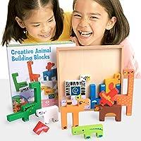 教育玩具 – coerni木製ビルディングブロックCartoon Animalボード