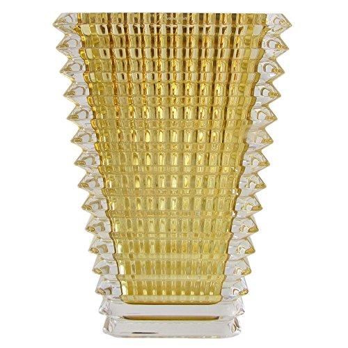 [해외]바카라 Baccarat 아이 EYE 스퀘어 기반 꽃병 옐로우 24cm 2802297 병행 수입품 2802297/Baccarat Baccarat Eye EYE Square Base Vase Yellow 24 cm 2802297 Parallel import goods 2802297