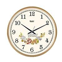 プラスチック壁ガラスカバーが付いている水晶壁時計の円形の無声非刻々と続く花の円形時計 lixingmingqi (Color : B, サイズ : 30.5*30.5CM)