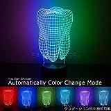 (イーストブリッジ)EASTBRIDGE デンタル トゥース LED 照明 スタンド タイプ 卓上 歯科 USB 簡単 接続 グラデーション 効果 7色 変化 コンセント 電源 不要!