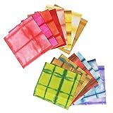 アワガミファクトリー 手染め和紙 板締め染め 十五色セット ITS-7015