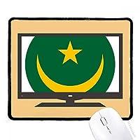 モーリタニアはアフリカの国家エンブレム マウスパッド・ノンスリップゴムパッドのゲーム事務所