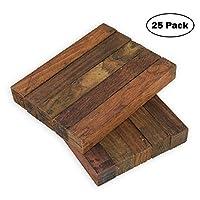 "Legacy Woodturning、ココボロ木製ペン空白、3/4"" x 3/4"" x 5インチ、25パック"
