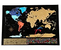 スクラッチMPFproソリューションへの世界地図、スクラッチへの地図、スクラッチへの世界地図、スクラッチへの世界地図、スクラッチウォールのポスター、82.5x59.4cm