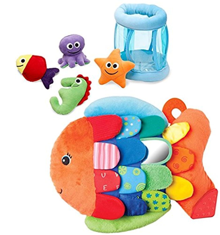 バンドルIncludes 2アイテム – Melissa & Doug Deluxe Fishbowl Fill and Spill Soft Baby Toy and Melissa & Doug Flip魚ソフトベビーToy