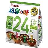 マルコメ たっぷりお徳料亭の味 減塩 即席味噌汁 24食×6袋
