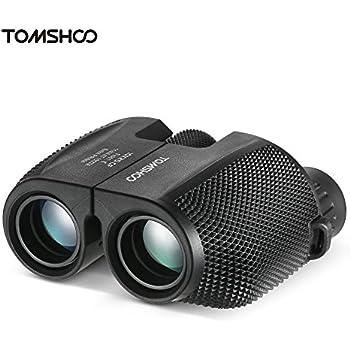 TOMSHOO 双眼鏡 望遠鏡 10倍 25mm対物レンズ Bak4 緑膜 コンパクト 防水 軽量 アウトドア スポーツ ポケットスコープ バードウォッチング コンサート ライブ 旅行 子供 ギフト 収納ポーチ付き