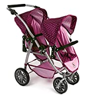 Bayer Chic 2000 689 29 - Tandem buggy VARIO, Blackberry, Purple/Pink