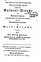 Historische Und Staatswissenschaftliche Untersuchungen